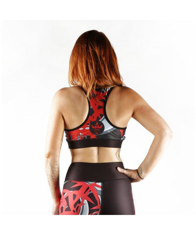 Combat Dollies Red Bamboo Sports Bra-Combat Dollies-Gym Wear