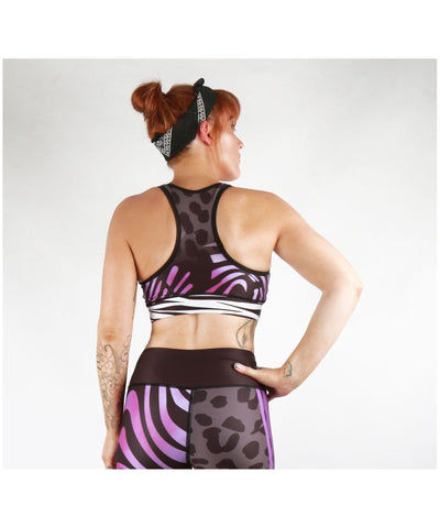 Combat Dollies Wild Purple Sports Bra