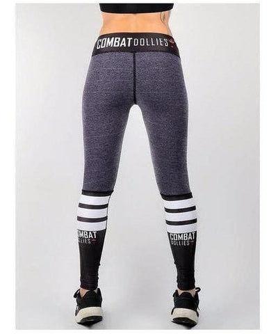Combat Dollies Mauve Crossfit Fitness Leggings Grey-Combat Dollies-Gym Wear