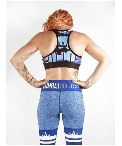 Combat Dollies Blue Camo Sports Bra-Combat Dollies-Gym Wear