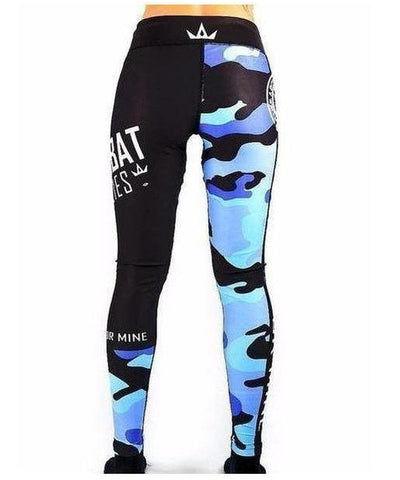 Combat Dollies Fitness Leggings Blue Camo-Combat Dollies-Gym Wear