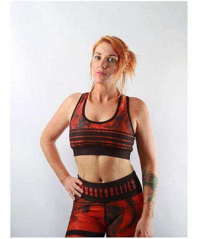 Combat Dollies Red Tribe Sports Bra-Combat Dollies-Gym Wear