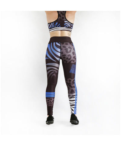 Combat Dollies Wild Blue Fitness Leggings