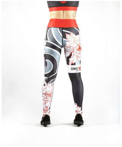 Combat Dollies Peonies Fitness Leggings
