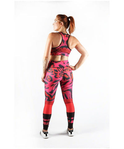 Combat Dollies Pink Leopard Sports Bra