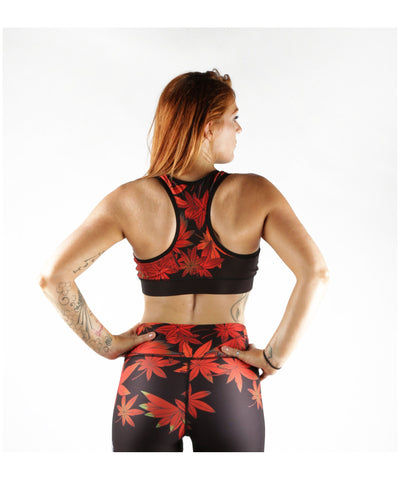 Combat Dollies Maple Leaf Sports Bra-Combat Dollies-Gym Wear