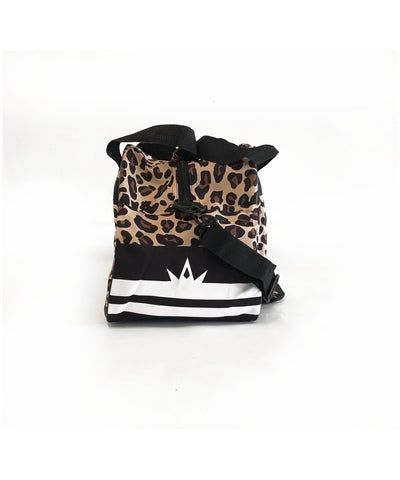 Combat Dollies Leopard Print Sports Bag-Combat Dollies-Gym Wear