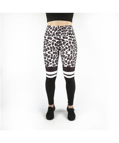Combat Dollies White Leopard Fitness Leggings-Combat Dollies-Gym Wear