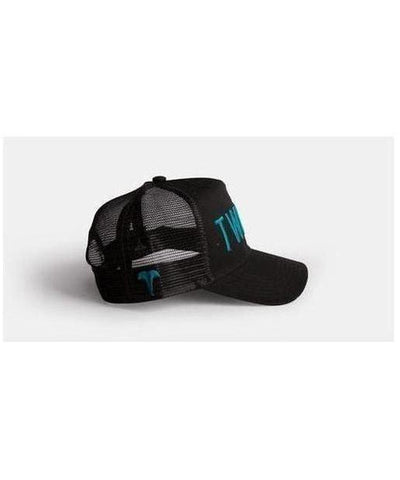 Twinzz 3D Mesh Trucker Cap Black/Teal-Twinzz-Gym Wear