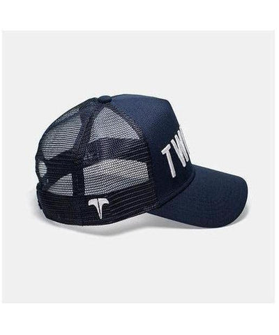 Twinzz 3D Mesh Trucker Cap Navy/White-Twinzz-Gym Wear