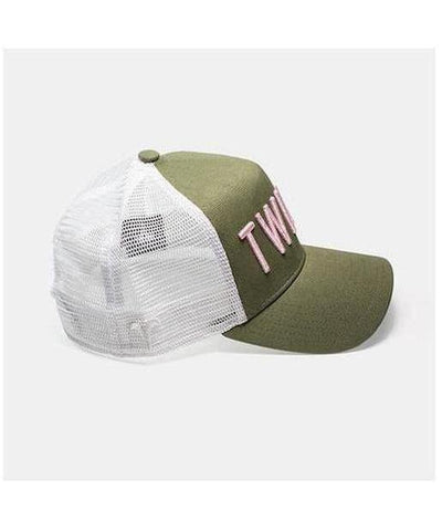 Twinzz 3D Mesh Trucker Cap Green/Pink-Twinzz-Gym Wear