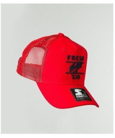 Fresh Ego Kid Mesh Trucker Cap Red/Navy-Fresh Ego Kid-Gym Wear