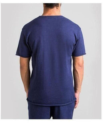 Fresh Ego Kid Knitted T-Shirt Navy-Fresh Ego Kid-Gym Wear