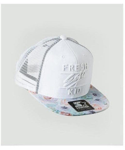 Fresh Ego Kid Mesh Trucker Cap White/Floral-Fresh Ego Kid-Gym Wear