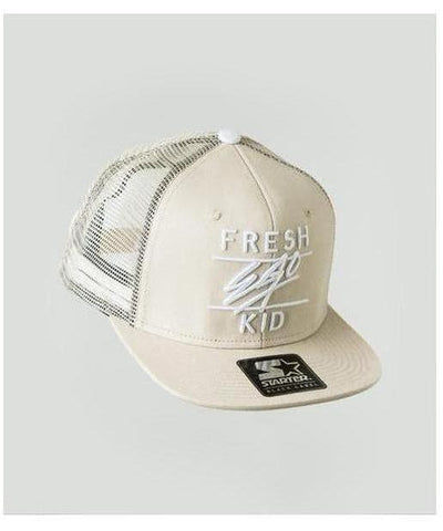 Fresh Ego Kid Mesh Trucker Cap Cream-Fresh Ego Kid-Gym Wear