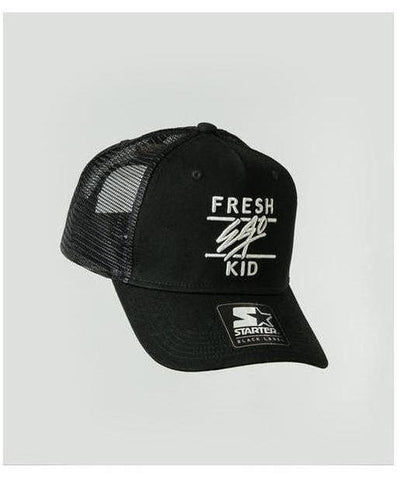 Fresh Ego Kid Mesh Trucker Cap Black-Fresh Ego Kid-Gym Wear