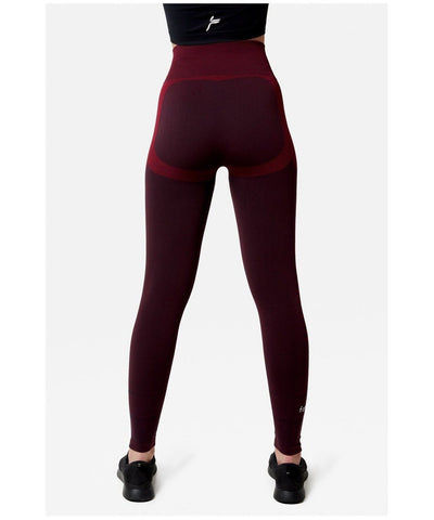 Famme Future High Waisted Leggings Burgundy