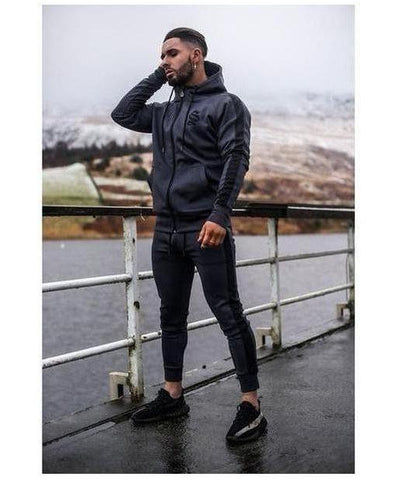 Sinners Attire Poly Track Hoodie Charcoal-Sinners Attire-Gym Wear