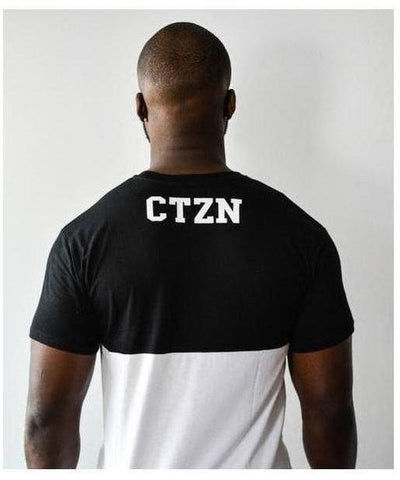 Citizen Zeus Two Tone T-Shirt Black/White-Citizen Zeus-Gym Wear