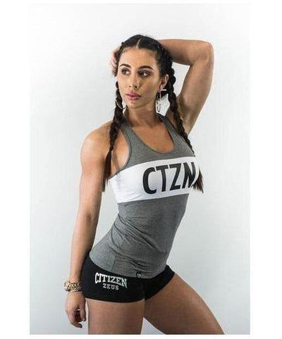 Citizen Zeus CTZN Racerback Vest Grey-Citizen Zeus-Gym Wear