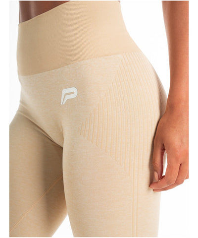 Pursue Fitness ADAPT Seamless Leggings Beige-Pursue Fitness-Gym Wear