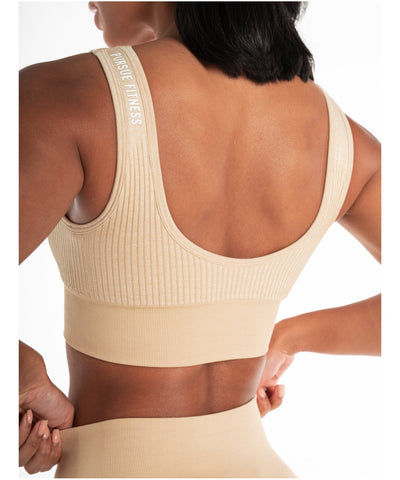 Pursue Fitness ADAPT Seamless Sports Bra Beige-Pursue Fitness-Gym Wear