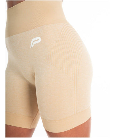Pursue Fitness ADAPT Seamless Shorts Beige-Pursue Fitness-Gym Wear
