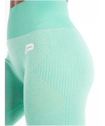 Pursue Fitness ADAPT Seamless Leggings Teal-Pursue Fitness-Gym Wear