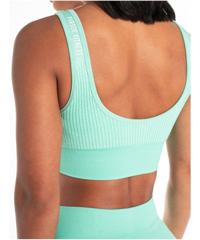 Pursue Fitness ADAPT Seamless Sports Bra Teal-Pursue Fitness-Gym Wear