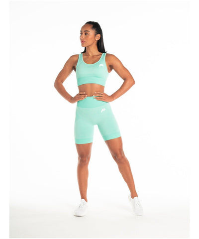 Pursue Fitness ADAPT Seamless Shorts Teal-Pursue Fitness-Gym Wear