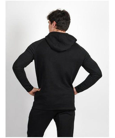 Pursue Fitness Elevate Tech Half Zip Hoodie Black-Pursue Fitness-Gym Wear