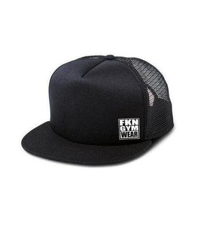 FKN Street Trucker Cap Black-FKN Gym Wear-Gym Wear