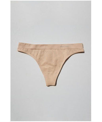 Famme Invisible Seamless Thong Nude-Famme-Gym Wear