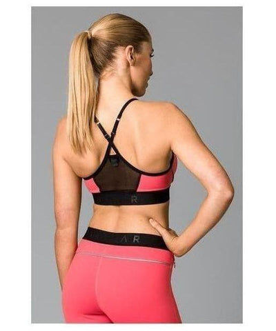 Fitwear Vivid Sports Bra Coral-Fitwear-Gym Wear