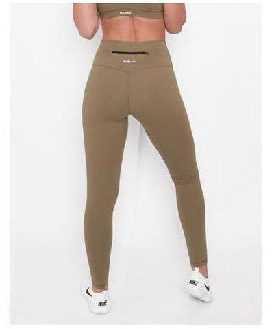 Womens Echt Force Dry Leggings Olive-Echt-Gym Wear