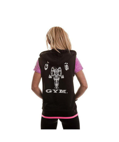Gold's Gym Muscle Joe Fitted Sleeveless Hoodie Black