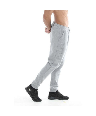 Gold's Gym Embossed Jogger Grey-Golds Gym-Gym Wear