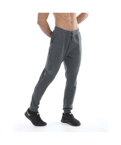 Gold's Gym Embossed Jogger Charcoal-Golds Gym-Gym Wear