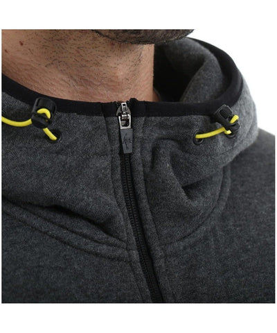 Gold's Gym Contrast Zip Up Hoodie Grey/Black-Golds Gym-Gym Wear