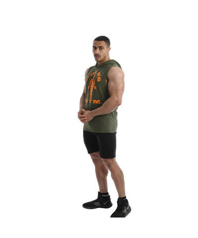 Gold's Gym Drop Armhole Hoodie Green