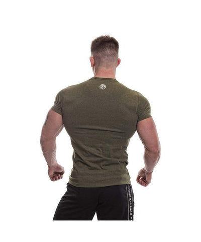 Gold's Gym Vintage Logo Gym T-Shirt Green Marl-Golds Gym-Gym Wear