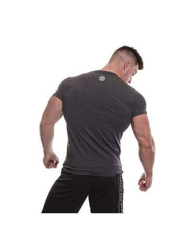 Gold's Gym Vintage Logo Gym T-Shirt Grey Marl-Golds Gym-Gym Wear