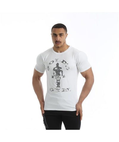 Gold's Gym Muscle Joe Camo Gym T-Shirt White