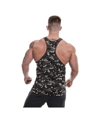 Gold's Gym Muscle Joe Stringer Vest Black Camo-Golds Gym-Gym Wear