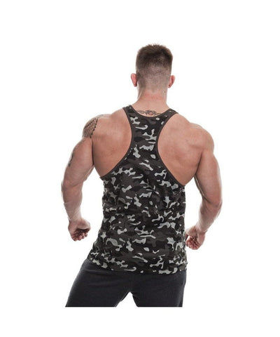 Gold's Gym Muscle Joe Stringer Vest Black Camo-Golds Gym-Gym Wear