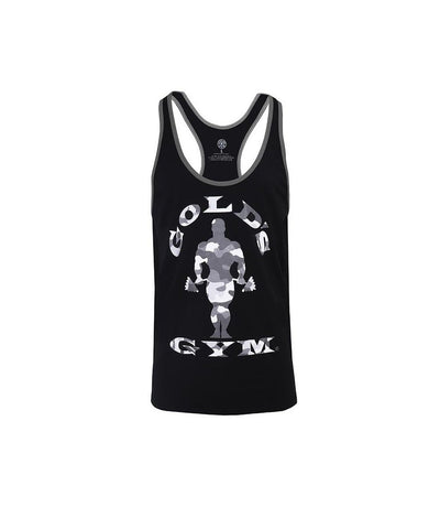 Gold's Gym Muscle Joe Stringer Vest Camo Black