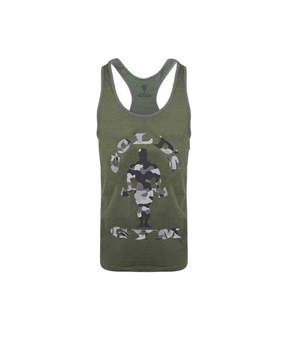 Gold's Gym Muscle Joe Stringer Vest Camo Green