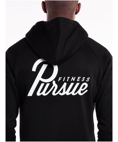 Pursue Fitness Classic Zip Up Hoodie 4.0 Black-Pursue Fitness-Gym Wear