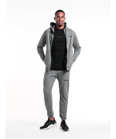 Pursue Fitness Everyday Zip Up Hoodie Grey-Pursue Fitness-Gym Wear