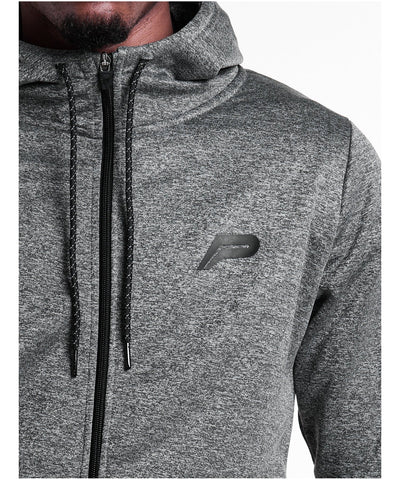 Pursue Fitness Poly Fleece Zip Up Hoodie Charcoal-Pursue Fitness-Gym Wear